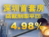 深圳首套房贷款利率平均4.98%,已是一线城市最高?