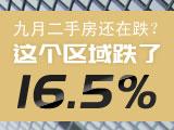 九月二手房还在跌?这个区域跌了16.5%