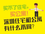 买不了住宅,买公寓!深圳住宅和公寓有什么不同?